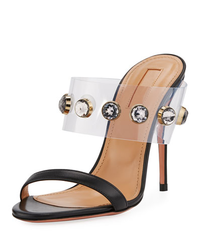 Galaxy Studded Illusion Mule Sandal