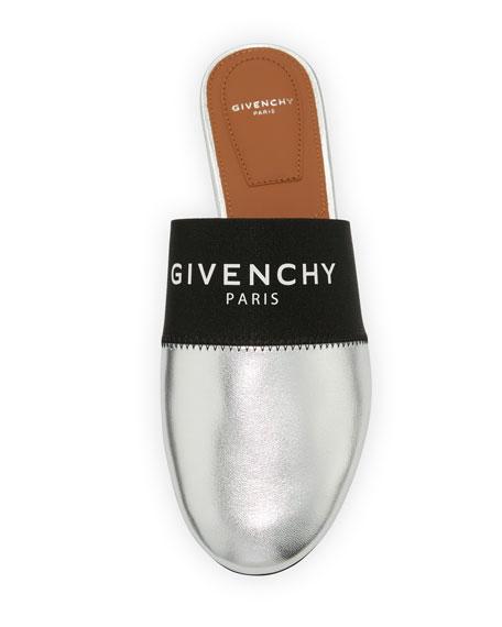 638be366c913 Givenchy Bedford Logo-Web Flat Mule Slide