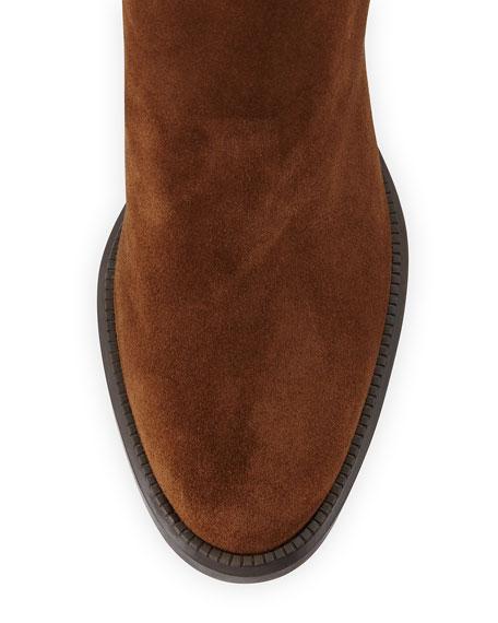 Isla Suede Block-Heel Boot