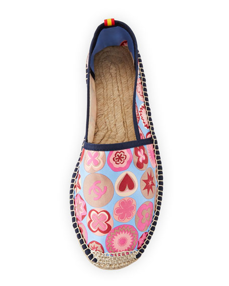 Coco Scarf-Print Espadrille