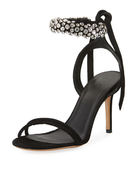 Isabel Marant Embellished Ankle-Strap Sandals outlet view many kinds of for sale cheapest price sale online vElLZ