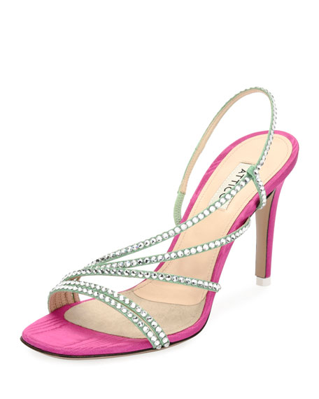 Baby Strappy Crystal Slingback Sandal