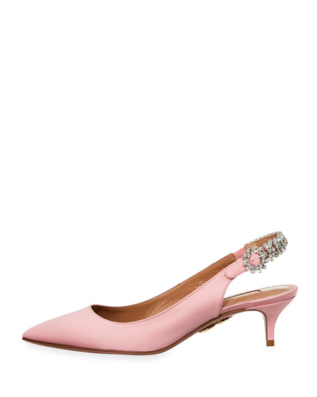 Portrait of Lady Satin Slingback Flat