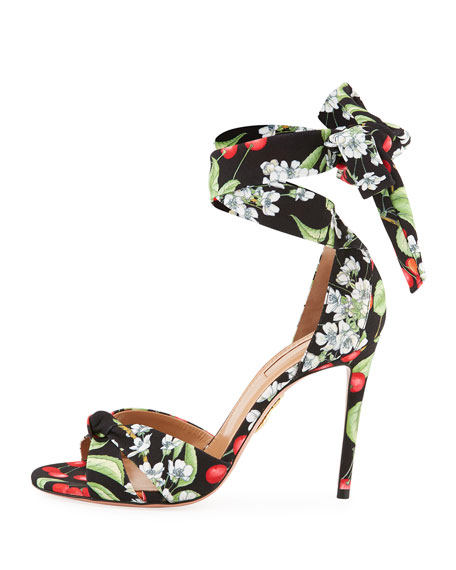 All Tied Up Floral-Print Sandal