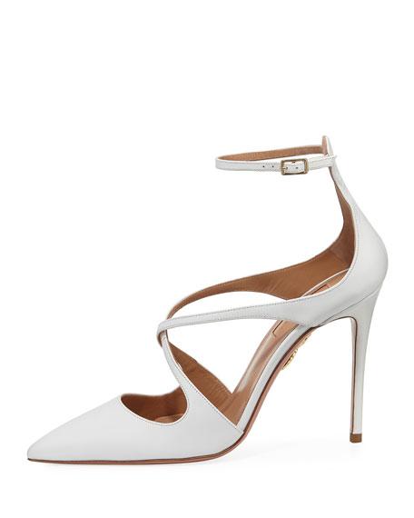 Viviana Leather Ankle-Strap Pump