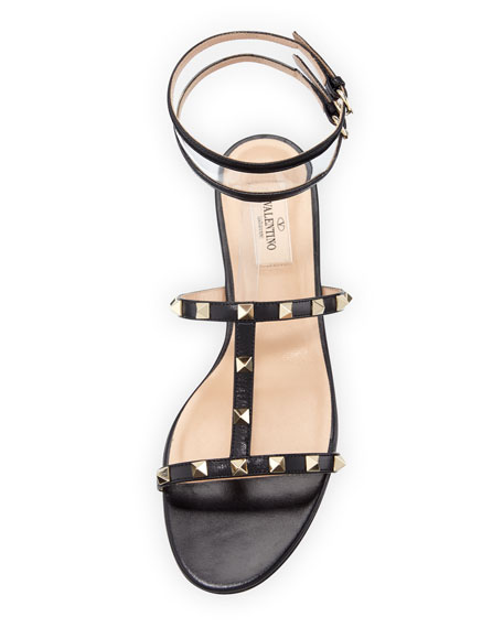 cc01950074a3 Valentino Garavani Moonwalk Rockstud Flat Sandal