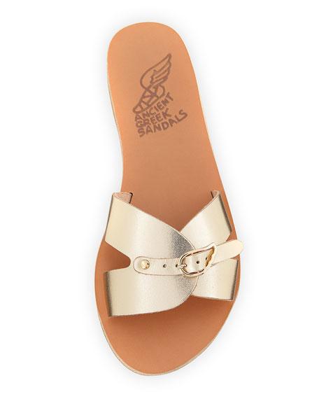 Anna Flat Buckle Slide Sandals