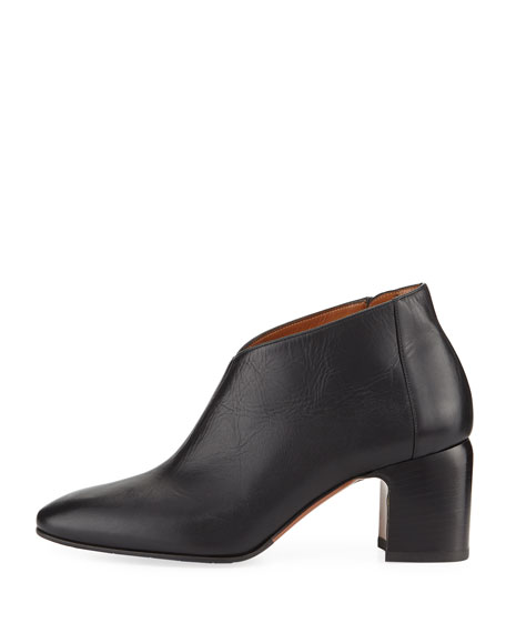 Elodina Leather Block-Heel Boot