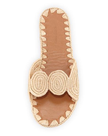 Naima Woven Raffia Slide Sandal