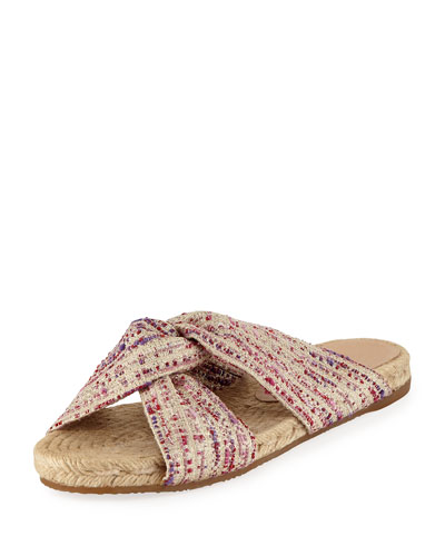 Patita Knotted Fabric Slide Sandal