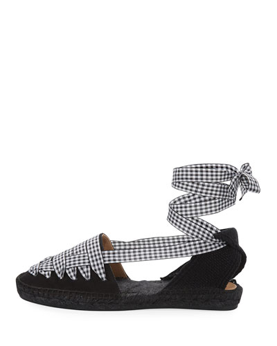 Jean Flat Gingham d'Orsay Espadrille