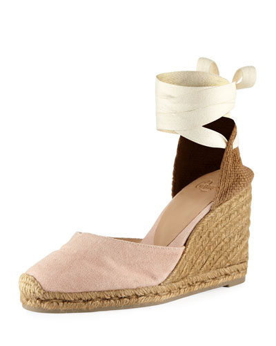 Carina Canvas Ankle-Wrap Espadrille