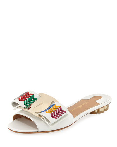 Tolve Flat Sandal with Vara Bow