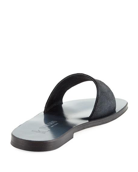 Arezzo Metallic Flat Sandal