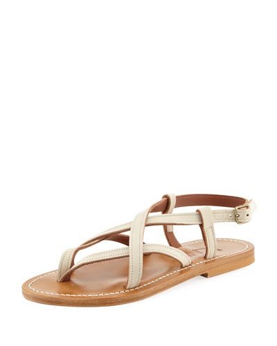 Ingrid Flat Leather Sandal