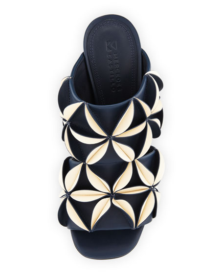 Mura 3D Floral Mule Sandal