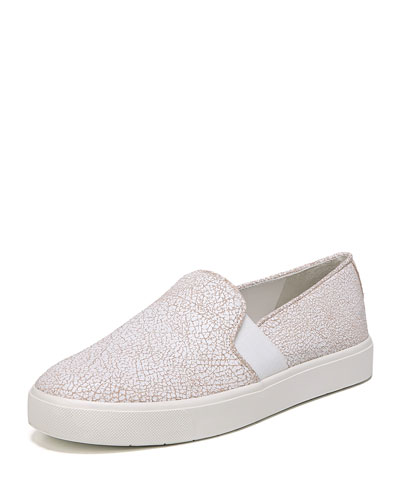 Blair Cracked Leather Platform Sneaker