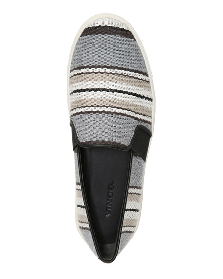 Blair Striped Fabric Sneakers