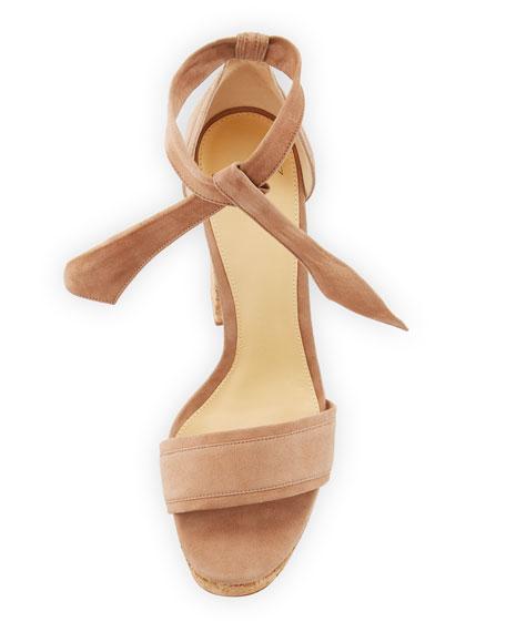 Celine Suede Cork Platform Sandal