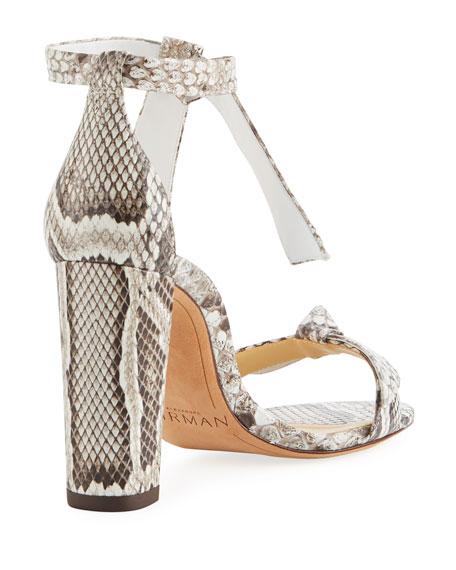 Clarita Python Block-Heel Sandal