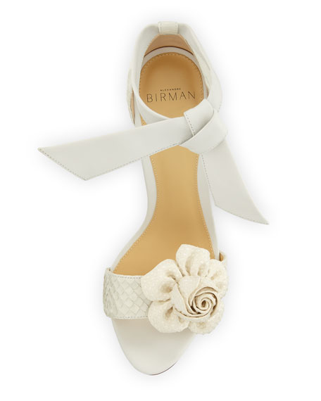 Clarita Blossom Python Sandal