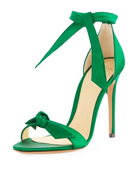 Clarita Satin d'Orsay Sandal, Emerald