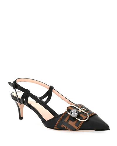 Pearland Leather Slingback Pump