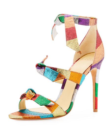 Lolita Metallic Fabric 3-Knot Sandal