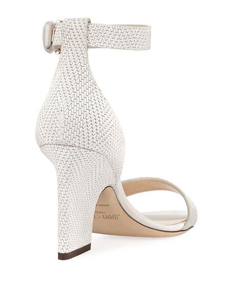 Edina Textured Leather d'Orsay Sandal