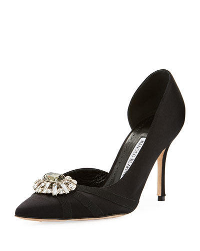 Fionalla Satin Jeweled Pump