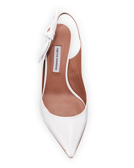 Rise Leather Slingback Pump with Bow