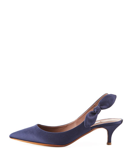 Rise Satin Slingback Pump with Bow