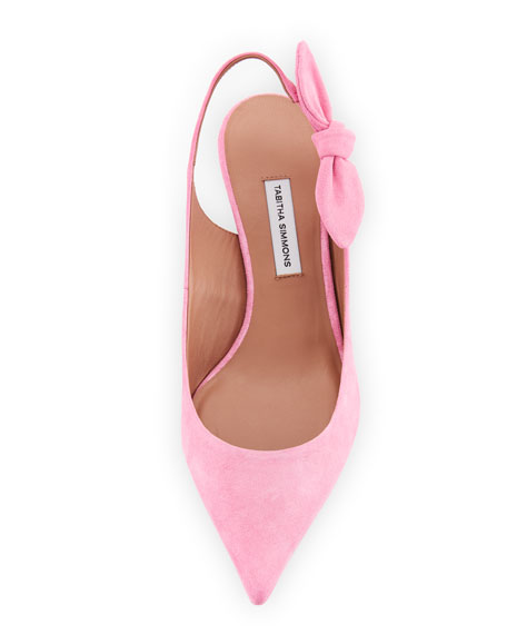 Rise Suede Slingback Pump with Bow