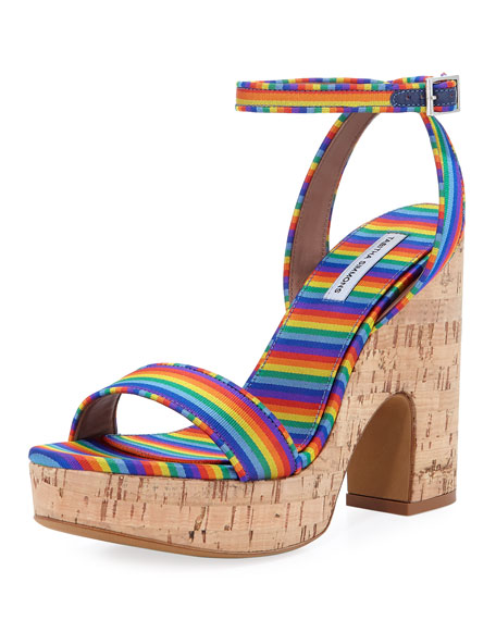 Calla Silk Cork Platform Sandal