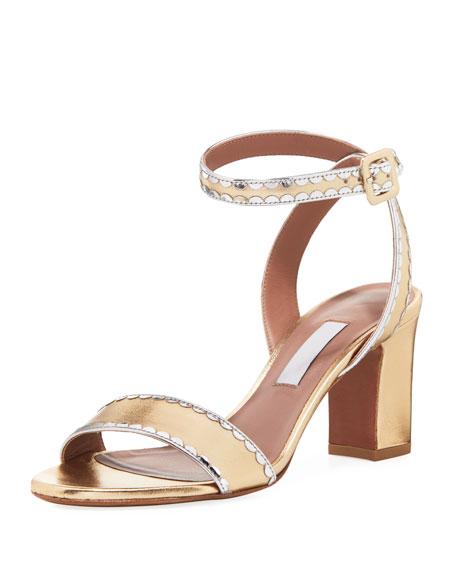 Leticia Scalloped Metallic Sandal