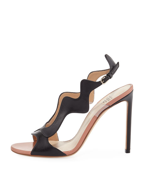 Scalloped Two-Tone Sandal