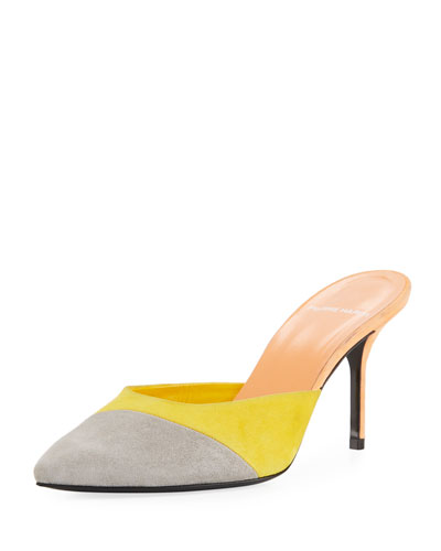 Kelly Colorblock Suede Mule