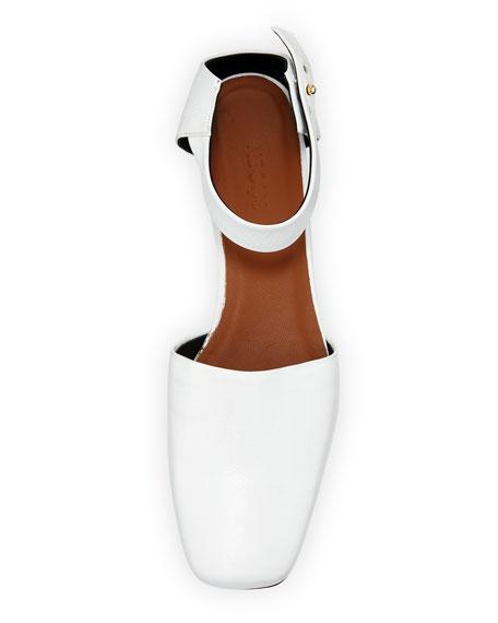 Dorsey Leather Kitten-Heel Pump