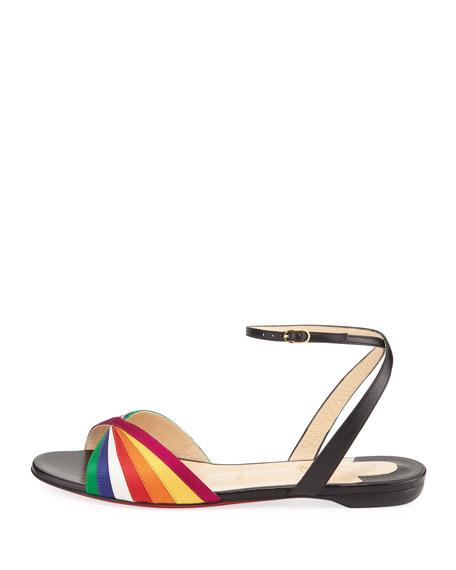 Naseeba Rainbow Flat Red Sole Sandals