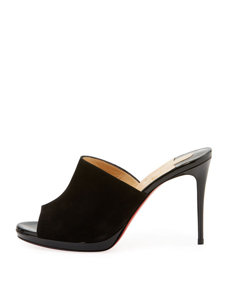 Submuline Flower Red Sole Mule