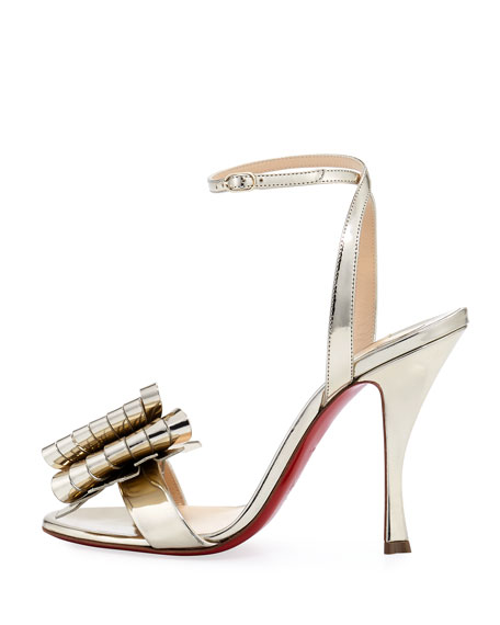 Miss Valois Metallic Red Sole Sandal