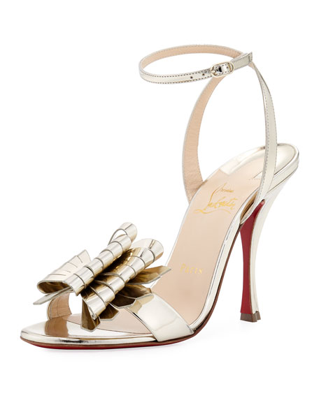 8cda0fa09b8 Christian Louboutin Miss Valois Metallic Red Sole Sandal