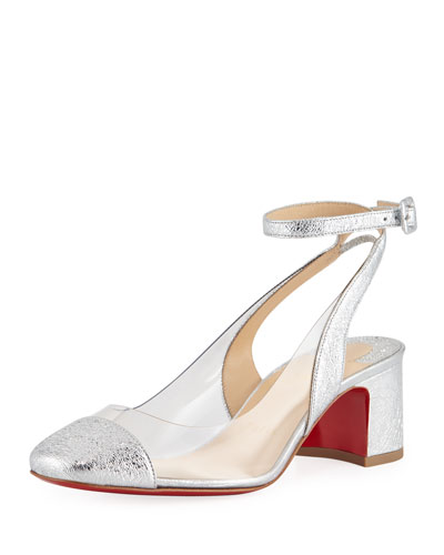 Asticocotte Metallic Red Sole Pump