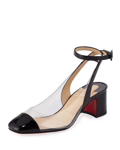 Asticocotte Patent Red Sole Pump