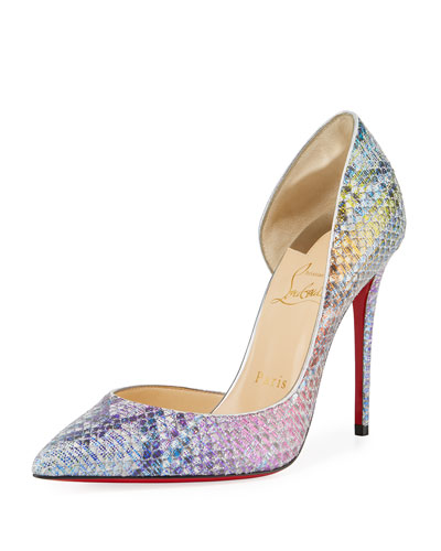 Iriza Python Unicorn Red Sole Pumps