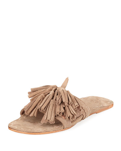 Noona Slide Sandal with Tassels
