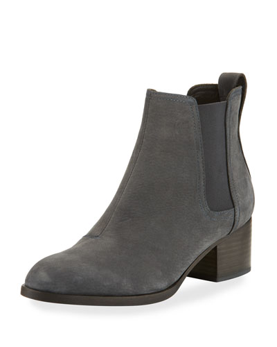 Walker Nubuck Leather Ankle Boot, Charcoal