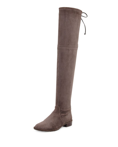 Lowland Stretch-Suede Over-the-Knee Boot