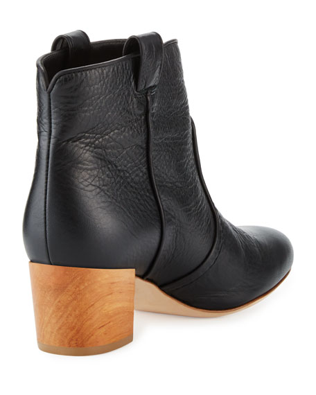 Belen Tumbled Leather Bootie