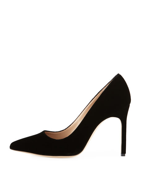 BB Velvet 105mm Point-Toe Pump